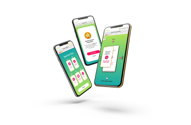 Worklife App on Mobiles
